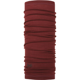 Buff Lightweight Merino Wool Halsrør, solid wine